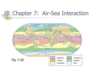 Chapter 7:  Air-Sea Interaction