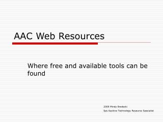 AAC Web Resources