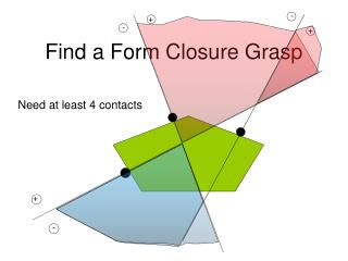 Find a Form Closure Grasp