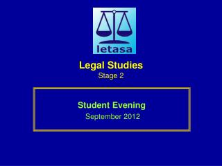 Legal Studies Stage 2