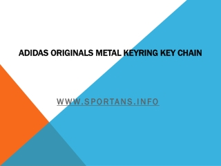 Adidas Originals Metal Keyring Key Chain