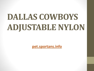 DALLAS COWBOYS ADJUSTABLE NYLON