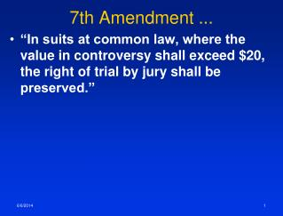 7th Amendment ...