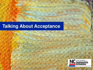 Talking About Acceptance