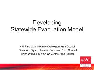 Developing  Statewide Evacuation Model