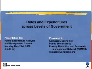 Roles and Expenditures  across Levels of Government