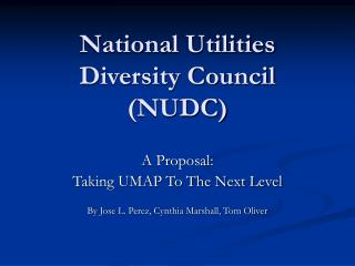 National Utilities Diversity Council (NUDC)