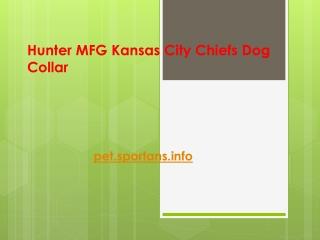 Hunter MFG Kansas City Chiefs Dog Collar