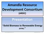 Amandla Resource Development Consortium ARDC