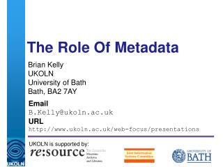 The Role Of Metadata