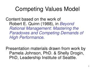Competing Values Model