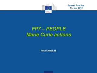 FP7 – PEOPLE Marie Curie actions
