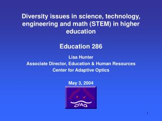 Diversity issues in science, technology, engineering and math (STEM) in higher education Education 286