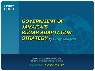GOVERNMENT OF JAMAICA'S  SUGAR ADAPTATION STRATEGY  by George Callaghan