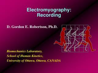 Electromyography: Recording
