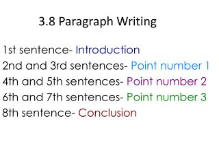 3.8 Paragraph Writing