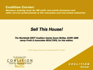 Coalition Corner: Business training tools for HR staff, real estate licensees and  other service professionals in the re