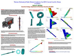 Thermo-Mechanical Finite Element Analysis of an HTS Current Lead by Means of ANSYS