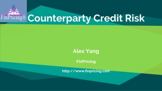 Counterparty Credit Risk Alex Yang FinPricing http: //finpricing