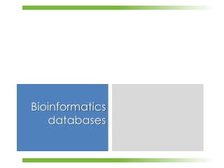 Bioinformatic Databases
