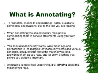 What is Annotating?