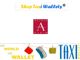 Shop Taxi Wallets @ Alicia Klein Store