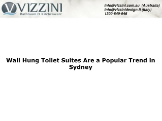Wall Hung Toilet Suites Are a Popular Trend in Sydney
