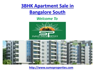 3 BHK Apartment Sale in Bangalore south