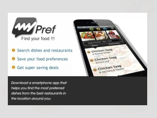 MyPref – A mobile app to find best Indian Restaurant/Food