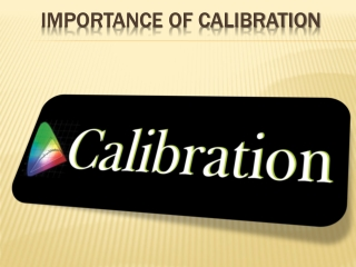 importance of instrument calibration