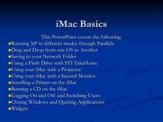 iMac Basics