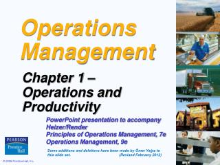 Ope r ations Management