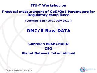 OMC/R Raw DATA