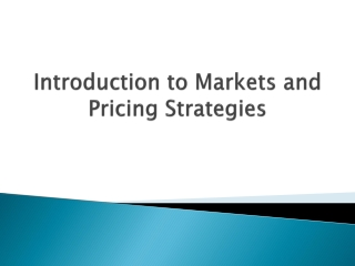 Classification of Markets on the basis of Competition