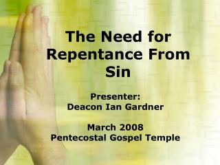 The Need for Repentance From Sin