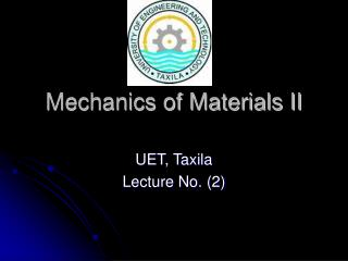 Mechanics of Materials II