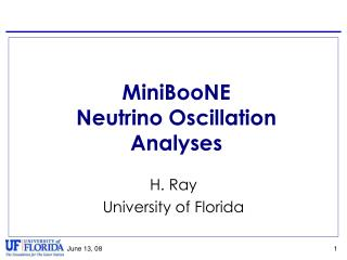 MiniBooNE Neutrino Oscillation Analyses