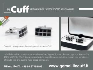 LeCuff, gemelli uomo per camicia su www.gemellilecuff.it