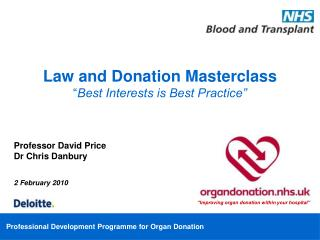 "Law and Donation Masterclass "" Best Interests is Best Practice"""