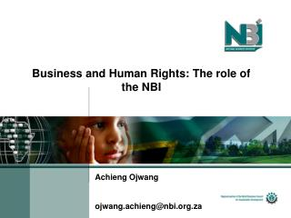 Business and Human Rights: The role of the NBI