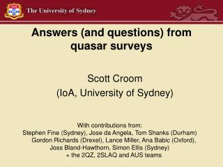 Answers (and questions) from quasar surveys