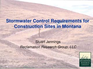 Stormwater Control Requirements for Construction Sites in Montana