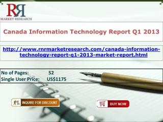 Canada Information Technology Market Report Q1 2013
