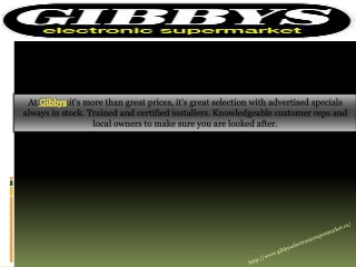 Gibbys Electronics Super Market : On Line Lowest Price Guara