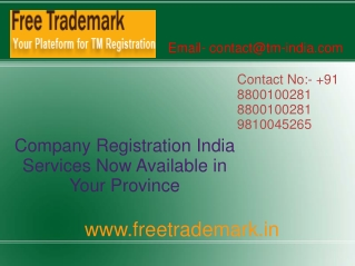 Company Registration India Services Now Available