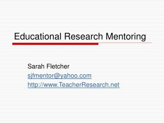 Educational Research Mentoring