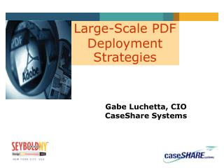 Large-Scale PDF Deployment Strategies