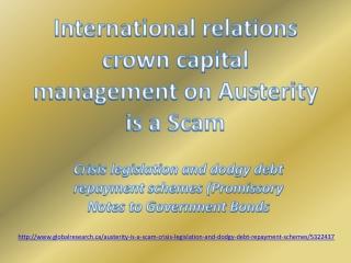 International relations crown capital management Austerity