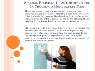 Several Efficient Ideas for Assist you In Choosing