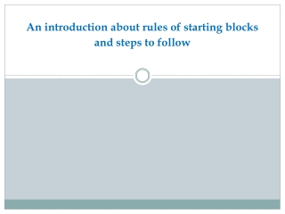 An introduction about rules of starting blocks